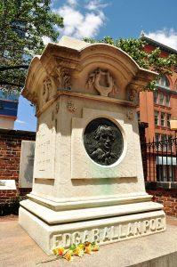 The Haunting tomb of Edgar Allan Poe