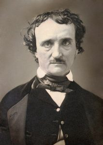 1849 photo of Edgar Allan Poe who haunts the Westminster Burial Grounds